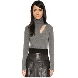 A.L.C. Sweaters - Billy Cashmere Blend Gray Turtleneck Sweater